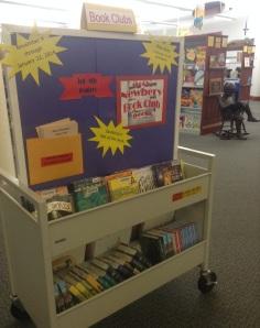 Mock Newbery Book cart